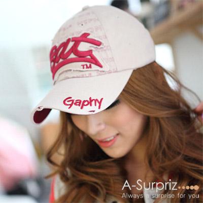 A-Surpriz Bat字母棒球帽(卡其)