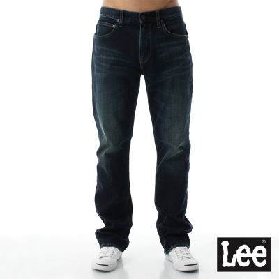 Lee 牛仔褲 743 Regional中腰舒適直筒-男款 藍