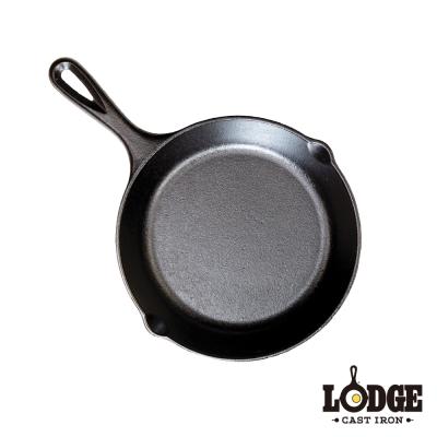 美國Lodge-鑄鐵平底煎鍋-8吋-20公分