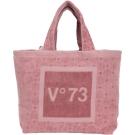 V73 Hawaii 浮雕絨布購物包(粉色)