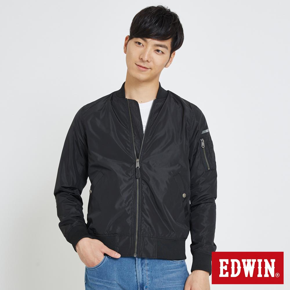 EDWIN 帥氣MA1單層外套-男-黑色