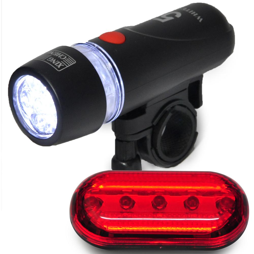 自行車前後燈組合 前燈可當手電筒 尾燈三段式 -快速到貨