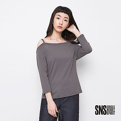 SNS 簡約哲學細肩帶造型上衣(3色)