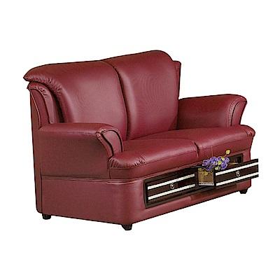 品家居 多蕾加厚皮革收納沙發雙人座-147x84x90cm-免組