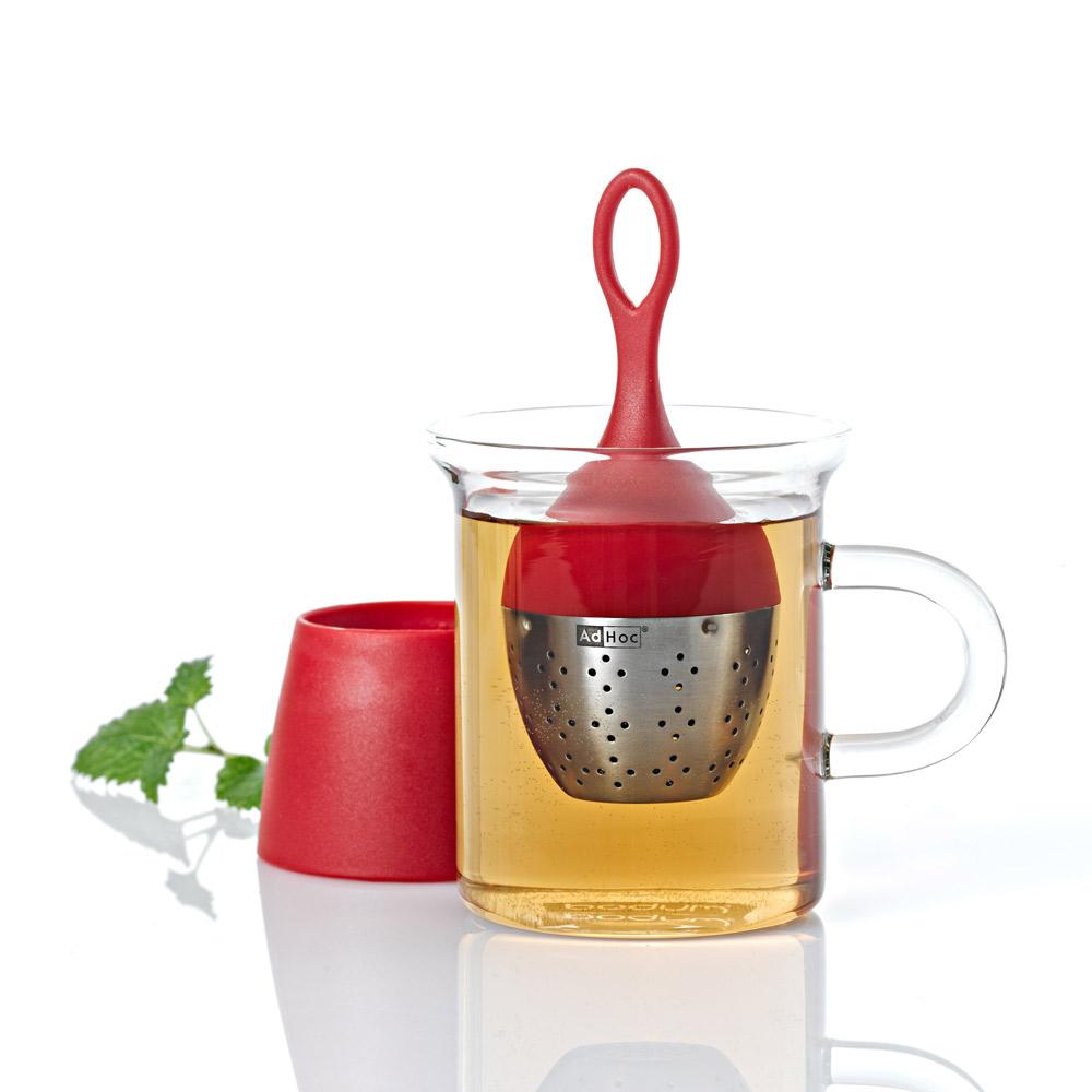 德國AdHoc 漂浮濾茶器(紅)
