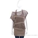 PAOLA FRANI 咖啡色洞洞設計假兩件式洋裝