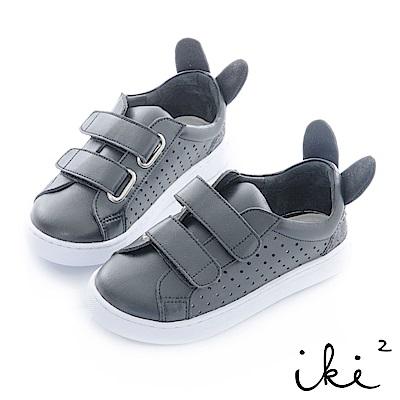 iki2 童鞋 咕妮兔魔鬼粘運動鞋-黑