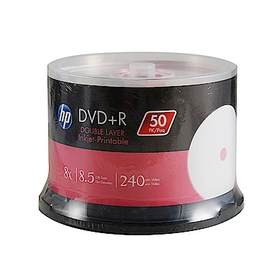 HP 8X 可印White Printable DVD+R Double Layer50片