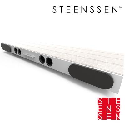 【丹麥 STEENSSEN】高階藍牙原音劇院系統- Action個性動感限定款(木紋白)