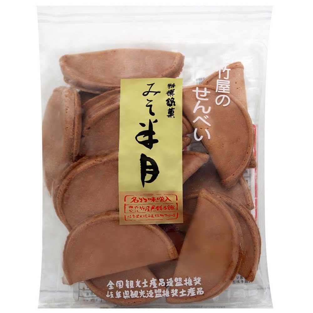 竹屋煎餅 半月味噌煎餅(133.2g)