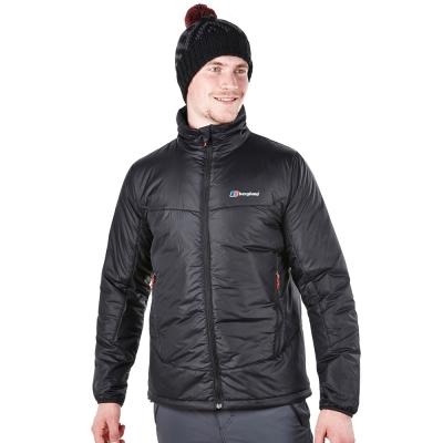 【Berghaus貝豪斯】男款溫度調節超輕高科技棉防風外套H22MT5-黑