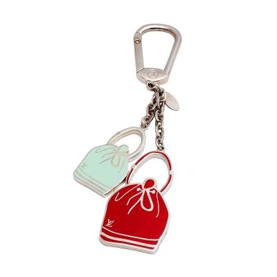 LV M66961 經典Epi Noe水桶包造型金屬吊飾鑰匙圈(蘋果綠X紅)