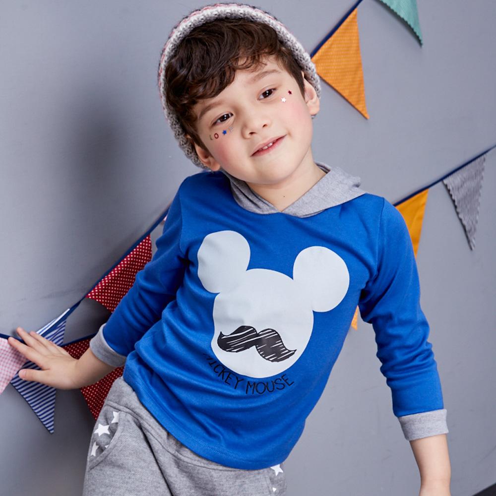 Disney 米奇系列翹鬍子連帽上衣 (共2色) product image 1