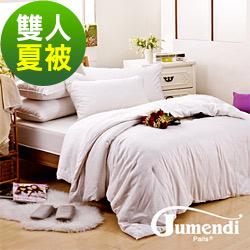 喬曼帝Jumendi-溫柔宣言 鑽石級雙人手工純長纖蠶絲夏被1.8kg
