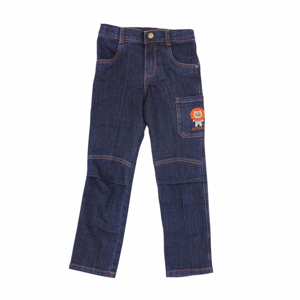 愛的世界 SUPERMINI 小獅子窄管緊身牛仔褲/10~12歲
