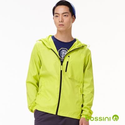 bossini男裝-多功能輕便風衣02亮綠