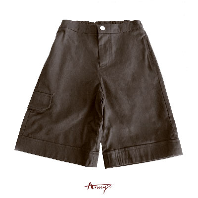 Annys深咖素面百搭口袋造型短褲*1394咖啡