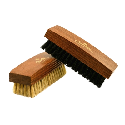 【SAPHIR莎菲爾 - 金質】拋光專用刷-幫助保養品、鞋蠟快速均勻分布在皮革皮鞋上
