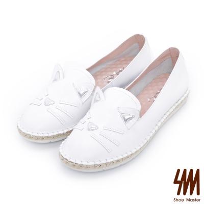 MK-童趣系列-立體貓咪厚底休閒鞋-白色