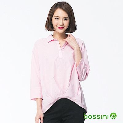 bossini女裝-七分袖造型襯衫04嫩粉