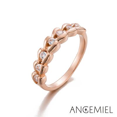 Angemiel安婕米 925純銀戒指 愛情來了(玫瑰金)