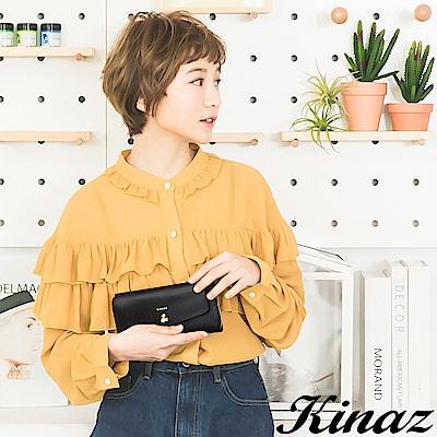 KINAZ 甜美記憶ㄇ字型長夾-謎樣黑-鑰匙系列