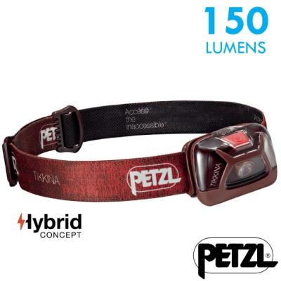 【法國 Petzl】新款 TIKKINA 超輕量戶外頭燈(150流明)_紅