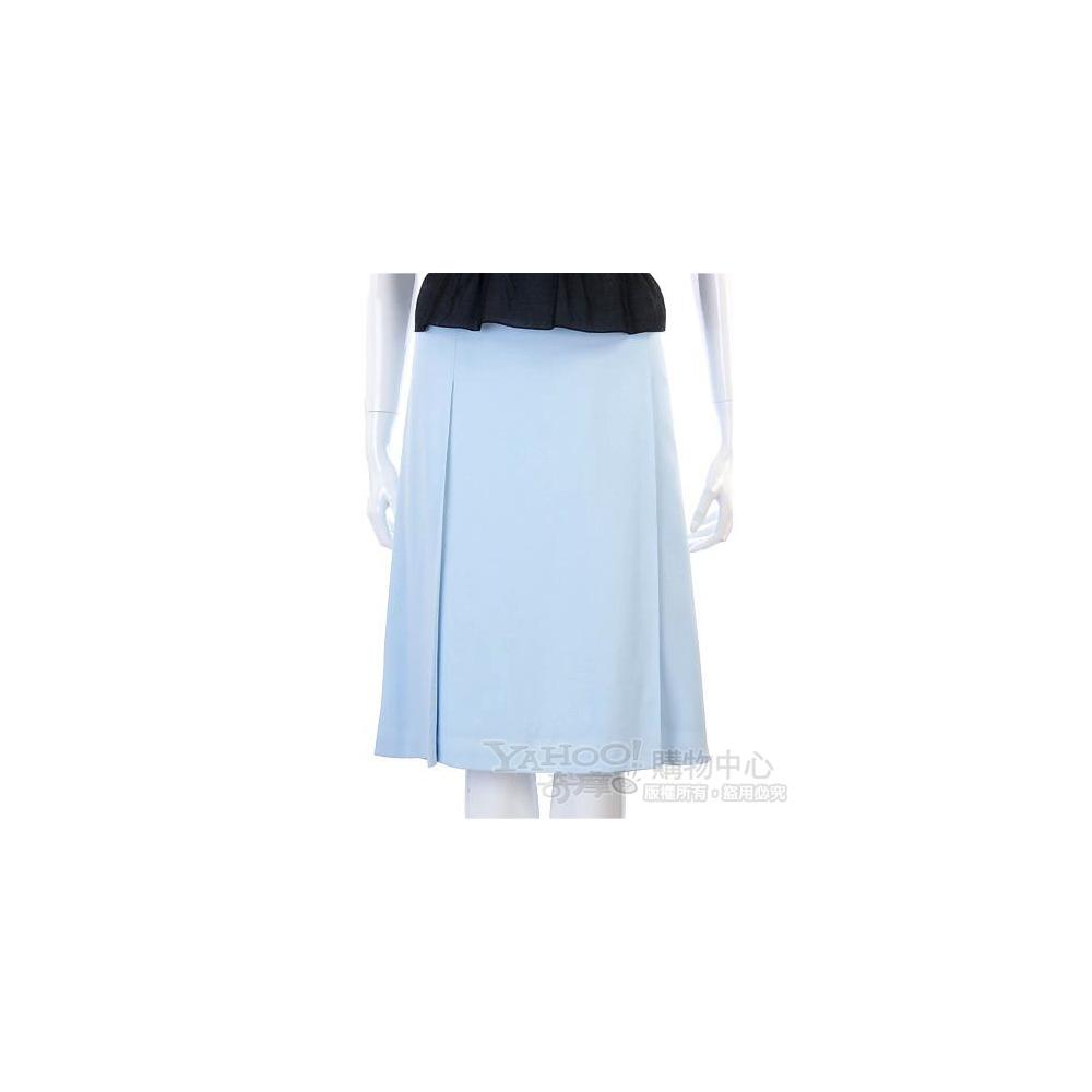 VALENTINO 藍色素面紗質及膝裙