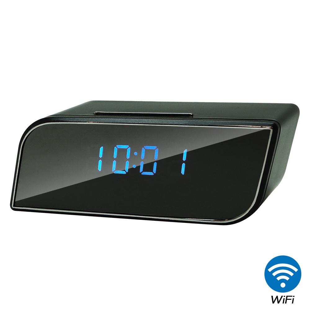 【CHICHIAU】WIFI無線網路高清1080P時尚電子鐘-針孔微型夜視攝影機+影音記錄
