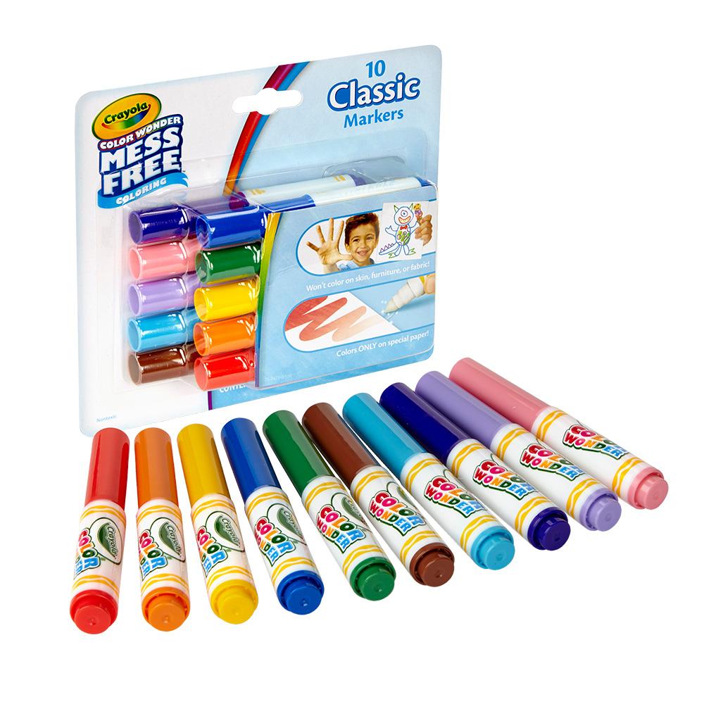 美國 Crayola繪兒樂 神彩色筆經典色10色(3Y+)