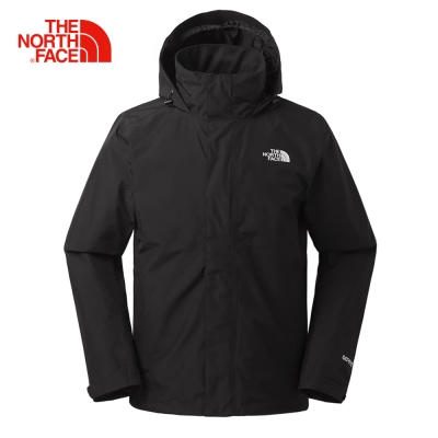 The North Face北面男款黑色防風堅固耐久衝鋒衣|367ZJK3