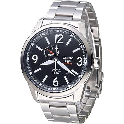 SEIKO 完美先生5號24石自動機械錶(SSA293K1)-黑/43mm
