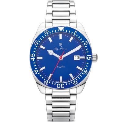 奧柏表 Olym Pianus 經典豪情石英腕錶-藍 5707MS