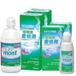 愛爾康 愛倍潤全效保養液 Alcon PureMoist 300mlX2+118mlX2