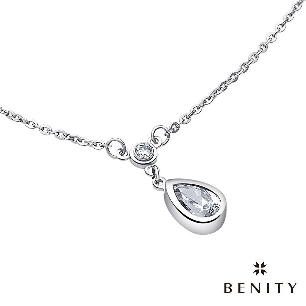 BENITY 微醺  316L醫療白鋼/西德鋼/八心八箭CZ 美鑽 女項鍊