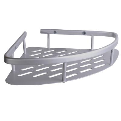 Homeicon 衛浴配件 太空鋁-單層角落架