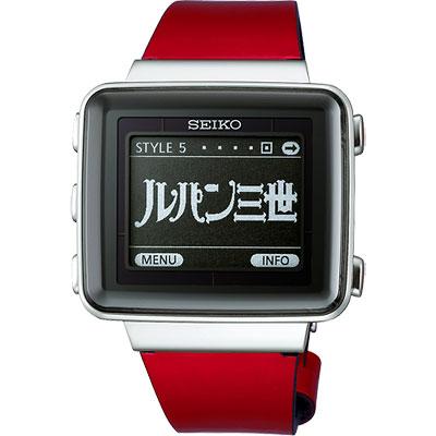 SEIKO SPIRIT 俠盜魯邦三世EPD太陽能電波電子腕錶(SBPA005J)-紅/42mm