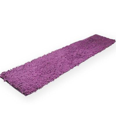 LISAN 長型極超細纖維舒柔腳踏墊 150x40 cm - 高貴紫色3入