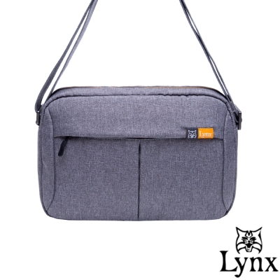 Lynx - 山貓質男防撥水休閒橫式側背包