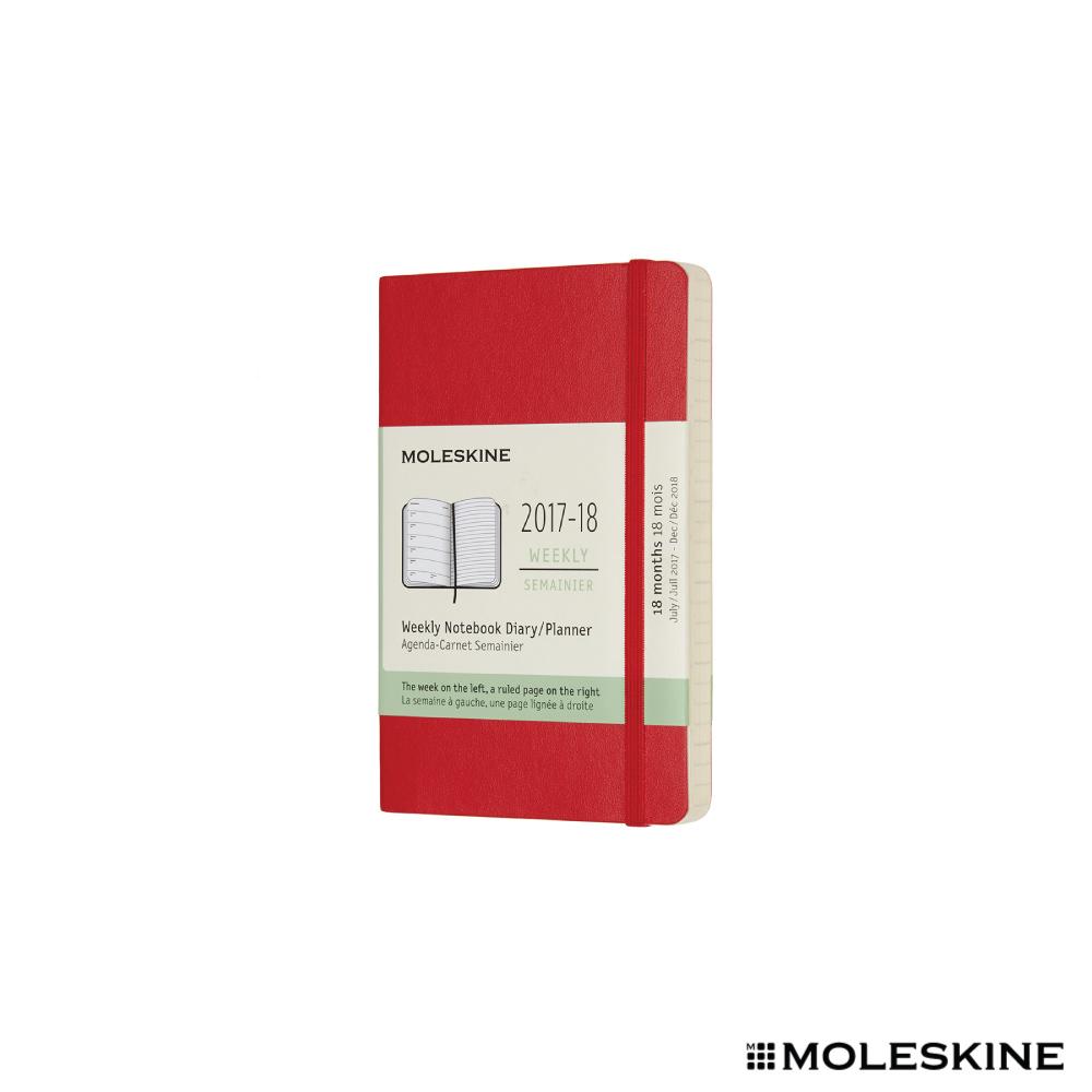 MOLESKINE 2018週記本 18M 軟殼P 紅色