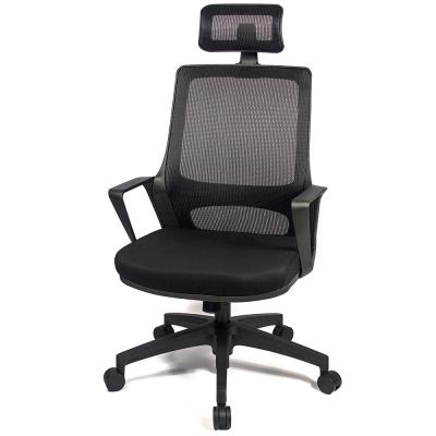 aaronation 愛倫國度-高枕透氣網背電腦椅AM-805-N-H-黑