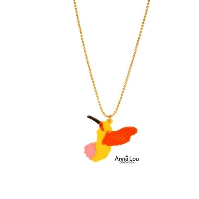 Anna Lou Of London倫敦品牌 Paradise Bird彩虹天堂鳥金項鍊