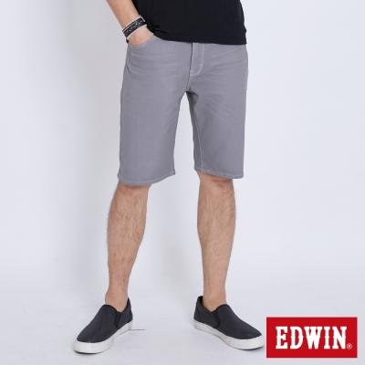 EDWIN 迦績褲JERSEY涼感短褲-男-淺灰色