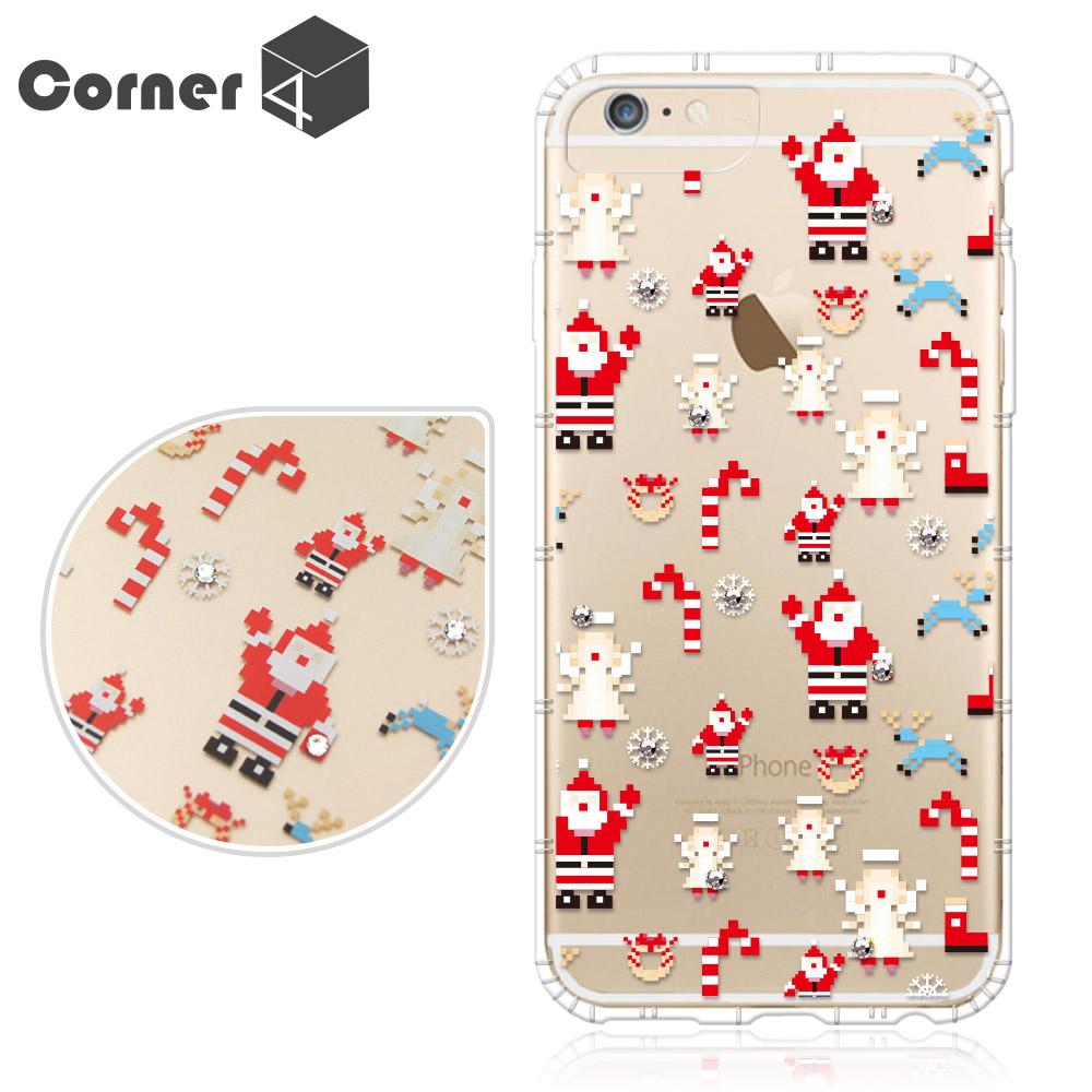 Corner4 iPhone6s /6 PLUS 5.5吋 奧地利彩鑽防摔手機殼-聖誕老人