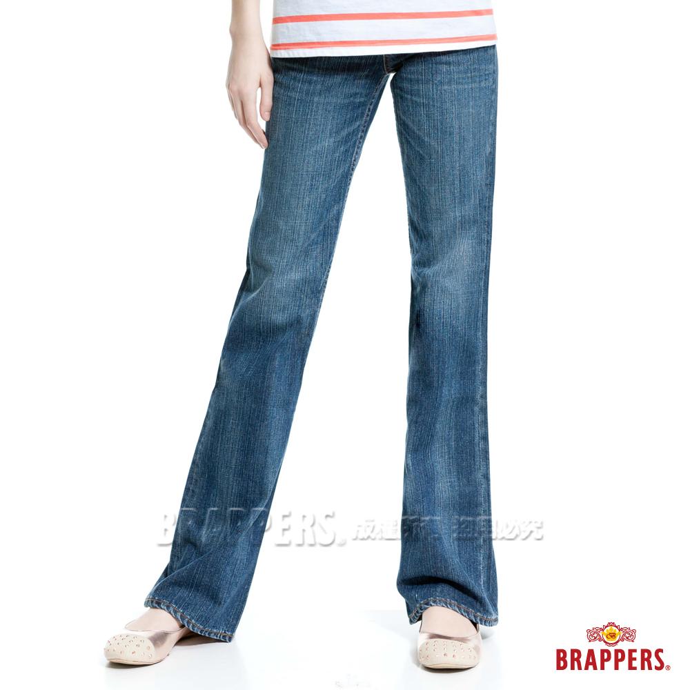 BRAPPERS 女款 女個性系列-女用大喇叭褲-淺藍