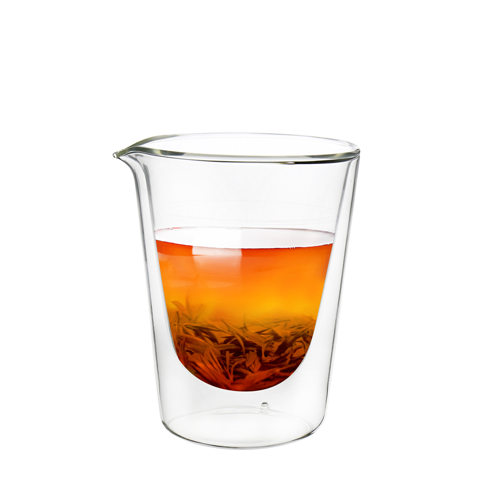 FUSHIMA富島 拉花尖嘴雙層耐熱玻璃杯230ML