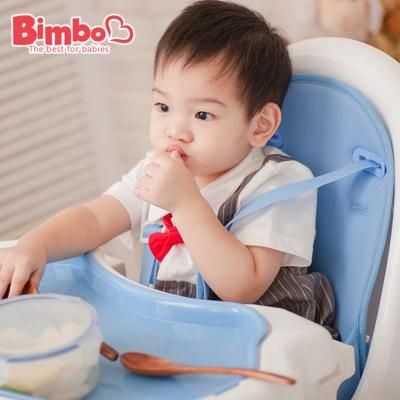 安全兒童餐椅 藍色 台灣製造【BIMBO】