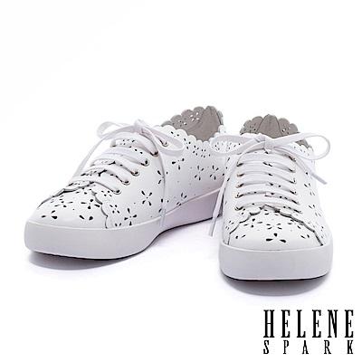 休閒鞋-HELENE-SPARK-質感浪漫雪花沖孔