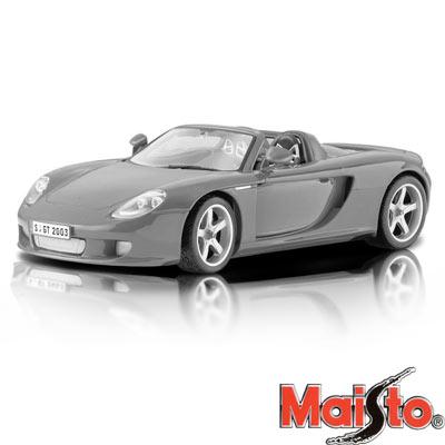 PORSCHE CARRERA GT 合金模型車(鐵灰色)