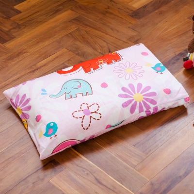 鴻宇 防蟎抗菌 兒童標準乳膠枕 心心象印 美國棉